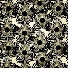 Amazing black and white retro fabric #interiordesign #midcentury #retro