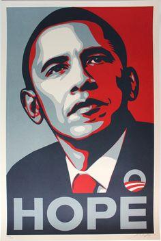 Shepard Fairey | HOPE (2008) | Available for Sale | Artsy Shepard Fairey Obama, Shepard Fairey Art, Guerilla Marketing, Andy Warhol, Banksy, Barack Obama, Obama 2008, Art Public, Street Art