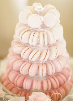 8 Ombré Wedding Ideas That Are Too Pretty Not To Try: Whether it's cascading fondant flowers or a mountain of macarons, these special sweets look that much better in varying shades. Simply Bloom Photography