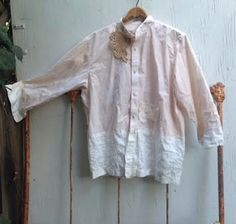 summer into autumn loveliness  I upcycled a calvin klein cotton shirt into a lovely tunic...perfect for weddings, rodeos, parties, gatherings.  VERY