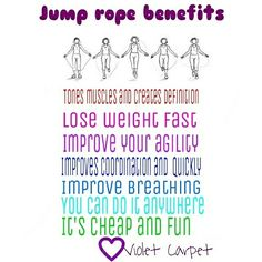Jump rope workout benefits  It is a full workout, it works your heart it works your mind. You dont need a big space to start jump rope