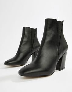 image.AlternateText Black Leather Ankle Boots, Leather Chelsea Boots, Knee  High Boots,. ASOS f952916c89