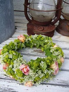 countryside in a wreath