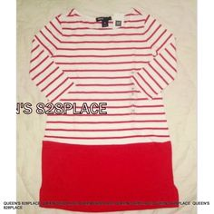 a3e36ae7894 Nwt Gap Kids Girls size 4-5 red White striped Dress Long Sleeve Christmas  New