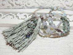 Charm- & Bettelketten - Edle Bettelkette - OPALGLAS - FLOWERS - QUASTE - - ein Designerstück von Kunterbuntes-Perlenspiel bei DaWanda