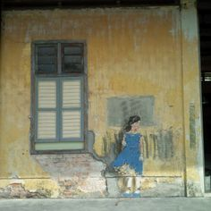 Ernest Zacharevic art is rubbish street art