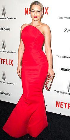 Rita Ora, Zac Posen, Golden Globes Afterparty
