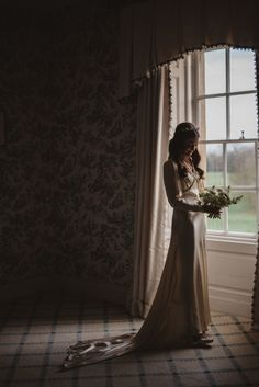 I felt so amazing it my dress. I knew it was perfect from the moment I tried it on at William Vintage. It's a one-of-a-kind, vintage, ivory wedding dress from 1935. - Over The Moon