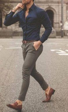 Business Casual for Men Attire ! Blazer Outfits Men, Mens Fashion Blazer, Outfits Casual, Stylish Mens Outfits, Mode Outfits, Classy Mens Clothes, Men's Casual Pants, Khaki Pants, Mens Blazer Styles