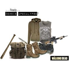 """""""Are you ready for the zombie apocalypse? 002"""" by cameliagirl on Polyvore"""