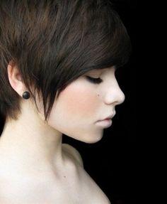 Cute Straight Pixie Haircut for Girl