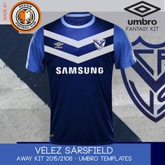 Design Football Club  Vélez Sársfield - Umbro 2015 2016 7ebd0ab1830d0