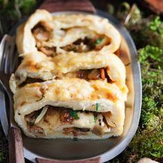 Orakasmunakasrulla - Mushroom omelette roll
