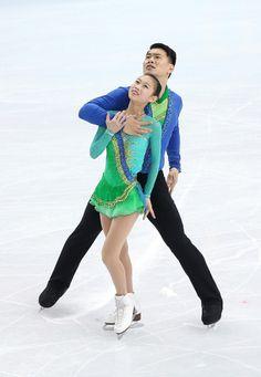 Peng and Zhang ice dancing, short 2014 WInter Olympics, Sochi