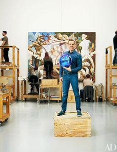 Look Inside the Studios of Jeff Koons, Vik Muniz, Chuck Close, and More Photos Art Nouveau, Art Gallery, Creative Class, Age Of Aquarius, Art Prints For Home, Famous Art, Famous Faces, Whitney Museum, Art Icon