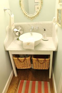 Love this powder room.