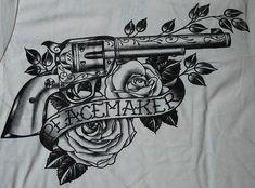 Afbeeldingsresultaat voor revolver tattoo