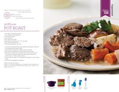Pot Roast recipe - bpa free kitchen: Tupperware® Microwave Pressure Cooker Explained and Recipes Pressure Cooker Roast, Microwave Pressure Cooker, Pressure Cooking, Tupperware Pressure Cooker Recipes, Tupperware Recipes, Carne Asada, Pot Roast Recipes, Cooking Recipes, Microwave Recipes