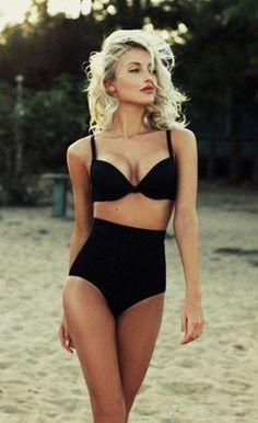 Black High Waist Triangle Bikini Bathing Suit Source by bathin. - Black High Waist Triangle Bikini Bathing Suit Source by bathing suits Source by AlexaWomenShopFashion - Bikini Alto, The Bikini, Black Bikini, Sexy Bikini, Bikini Swimsuit, Daily Bikini, Bikini Beach, Black Swimsuit, Bikini 2017