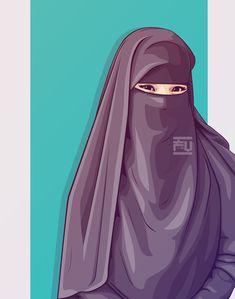 #vector #hijab #niqab @ahmadfu22 Cartoon Drawings Of People, Cartoon People, Girl Cartoon, Anime Muslim, Muslim Hijab, Islam Muslim, Muslim Girls, Muslim Women, Muslim Pictures