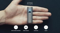 Atmotube is a portable air quality monitor that pairs with a smartphone app for real-time measurements. The device measures carbon monoxide, volatile High Tech Gadgets, Cool Gadgets, Electronic News, Hd Led, Hexagon Pattern, New Inventions, Air Pollution, Mini, Monitor