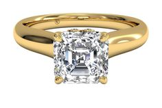 Solitaire Diamond Engagement Ring with Surprise Diamonds - in Yellow Gold (0.04 CTW)