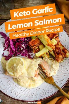 Keto Lemon Garlic Salmon Dinner Recipe