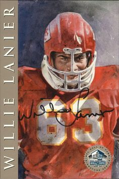 1998 Ron Mix HOF Platinum AutographsNNO Willie Lanier Chiefs  /2500 O11161 in Sports Mem, Cards & Fan Shop, Cards, Football   eBay