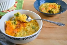 cheesy spaghetti squash and broccoli (use a substitute for the flour)