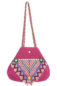 LuzPatterns.com crochet inspiration Elliot Mann, no pattern just inspiration! #crochetbag #crochetinspiration