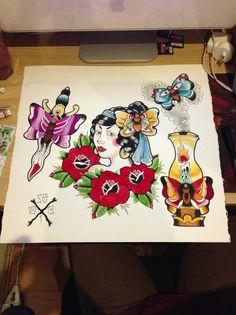 shannontattooer: Finished this tonight. Tattoo Flash, Discover Yourself, Tumblr, Tattoos, Tatuajes, Tattoo, Design Tattoos, Tumbler, Flash Tattoos