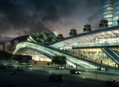 Express Rail Link West Kowloon Terminus - was crowned the much coveted Best Futura Mega Project in MIPIM Awards 2012.   Designed by Andrew Bromberg of Aedas, the high-speed rail terminus station will connect Hong Kong to Beijing- Express Rail Link West Kowloon Terminus - Architizer