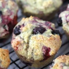These triple berry muffins are the best homemade berry muffins made from scratch. Real Food Recipes, Baking Recipes, Dessert Recipes, Bread Recipes, Vegan Desserts, Potato Recipes, Yummy Food, Grandma's Stuffing Recipe, Best Baked Potato