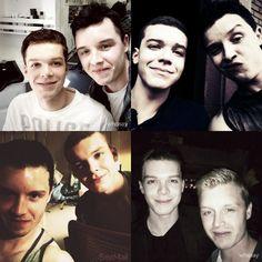 Through the seasons with Mickey and Ian :))) - Tumblr