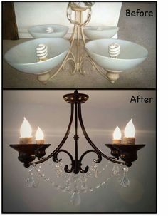 Lamp makeover before and after chandelier floor lamp feminine chandelier makeover diy before after black chandelier barnhouse rope aloadofball Choice Image