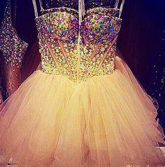 Dress, pink, rhinestones