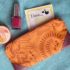 Warli print purse