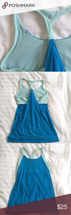 Lululemon Cut-Out Tank Attached sports bra with side cut-out lululemon athletica Tops Tank Tops