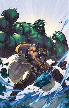 #Hulk #Fan #Art. (Hulk Vs Thor)By: Joe Madureira. (THE  5  STÅR  ÅWARD  OF:  AW YEAH, IT'S MAJOR ÅWESOMENESS!!!™) ÅÅÅ+