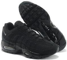 Nike Air Max 95 EM Mens Running Shoes 2014 New Black