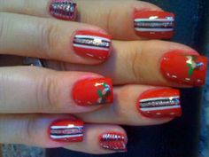 Chickettes Ohio State Nail Art For My Daughter In Law And