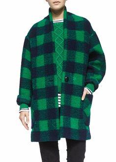 8363926d17f Isabel Marant Etoile gabrie coat green blue