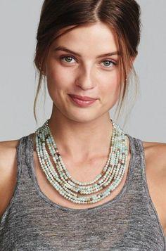 Neutral Stone Statement Necklace & Cleopatra Stone Necklace ...