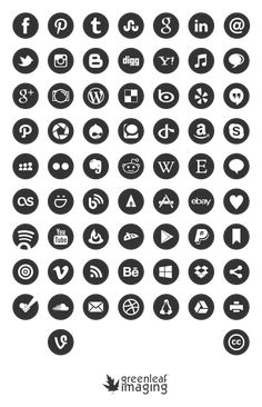 Free social media icons - editable in Ps