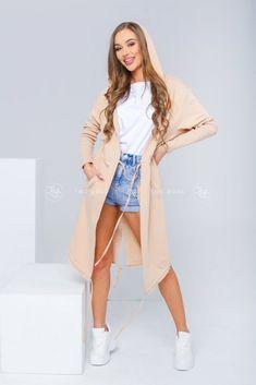 Dámsky teplákový kardigán béžový Duster Coat, Jackets, Fashion, Down Jackets, Moda, Jacket, Fasion, Trendy Fashion, La Mode