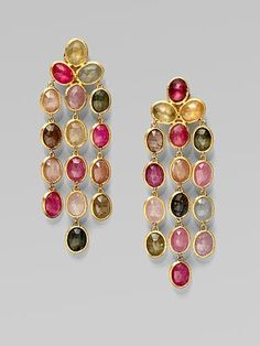 Marco Bicego - 18K Gold Multi-Color Sapphire Chandelier Earrings - Saks.com