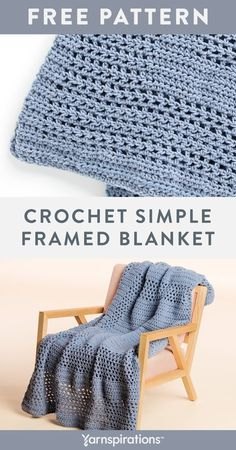Free Crochet Simple Framed Blanket pattern using Bernat yarn. This traditional-style crochet blanket is perfect to add warmth to a room. You'll do a combination of half double crochet and chains to create the framed pattern. Blanket is done in one piece and also features the half double crochet 2 together technique. #Yarnspirations #FreeCrochetPattern #CrochetBlanket #CrochetAfghan #CrochetThrow #BernatYarn Knit Or Crochet, Free Crochet, Crochet Hats, Bernat Yarn, Afghan Crochet Patterns, Half Double Crochet, Chains, Free Pattern, Traditional