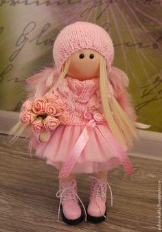 Купить Текстильная куколка- малышка Розовое чудо. - розовый, кукла ручной работы, кукла текстильная