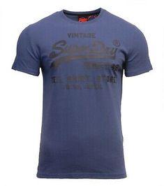 Teal Grit  Navy Red Short Sleeve Superdry Mens Shirt Shop Duo T Shirt