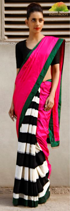 Ikat saree by Masaba on Indianroots.com  Click image to shop this product.